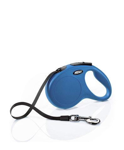 Flexi поводок-рулетка New Classic L (до 50 кг) лента 5 м (синяя)