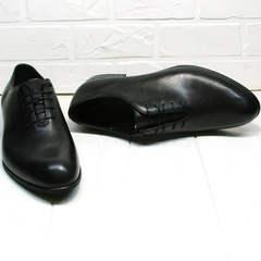 Черные туфли мужские оксфорд Ikoc 063-1 ClassicBlack.