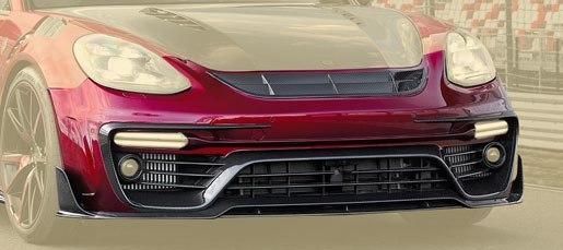 Карбоновый передний бампер (без/с радаром) Mansory Style для Porsche Panamera
