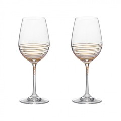 Набор бокалов для вина «Виола» золотая спираль, 350 мл, фото 1