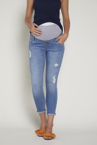 Джинсы для беременных (SKINNY) 09389 голубой