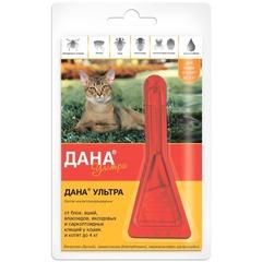Дана Ультра капли от блох и клещей для кошек и котят ДО 4 кг (1 пипетка)