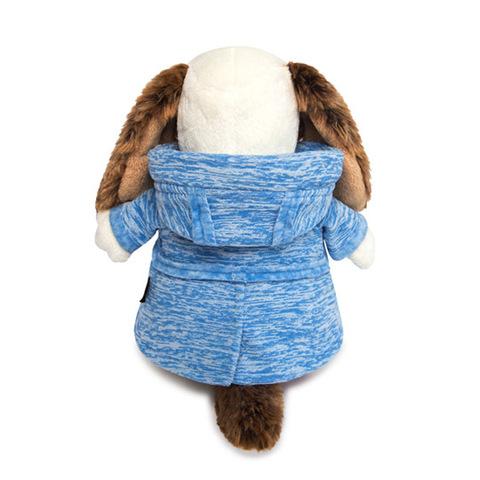 Пес Бартоломей в голубой куртке