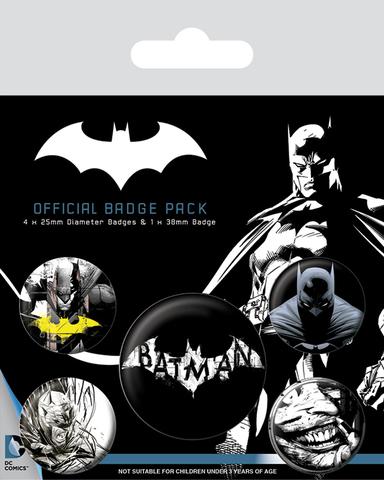 Набор значков «Бэтмен (dark)»
