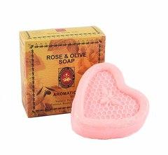 Мыло с экстрактом Розы и оливковым маслом,  Madame Heng