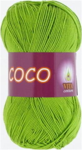 Пряжа Coco (Vita cotton) 3861 Ярко-зеленый