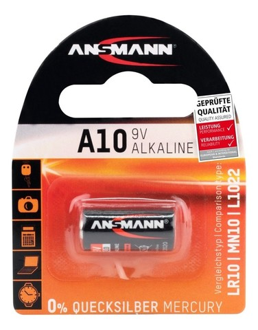 Батарейка щелочная A10 ANSMANN 9V