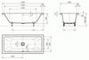 Стальная ванна KALDEWEI Conoduo 200x100 standard mod. 735  схема