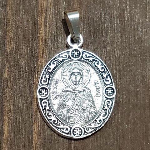 Нательная именная икона святая Кира с серебрением кулон медальон с молитвой