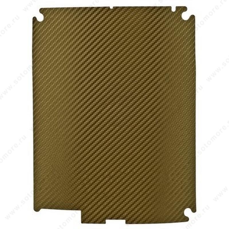 Наклейка карбон для iPad 4/ 3/ 2 золотая на заднюю часть