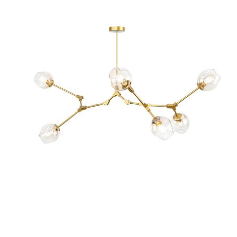 Потолочный светильник копия Branching Bubble by Roll & Hill (Lindsey Adelman) (5 плафонов, золотой)