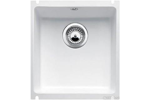 Кухонная мойка Blanco Subline 375-U, глянцевый белый