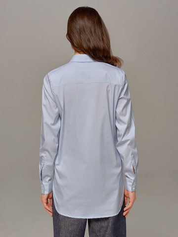 Женская рубашка цвета деним Eleventy - фото 2