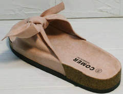 Стильные женские сандалии с бантом Comer SAR-15 Pink.