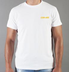 Футболка с принтом Can-Am (BRP) белая 007
