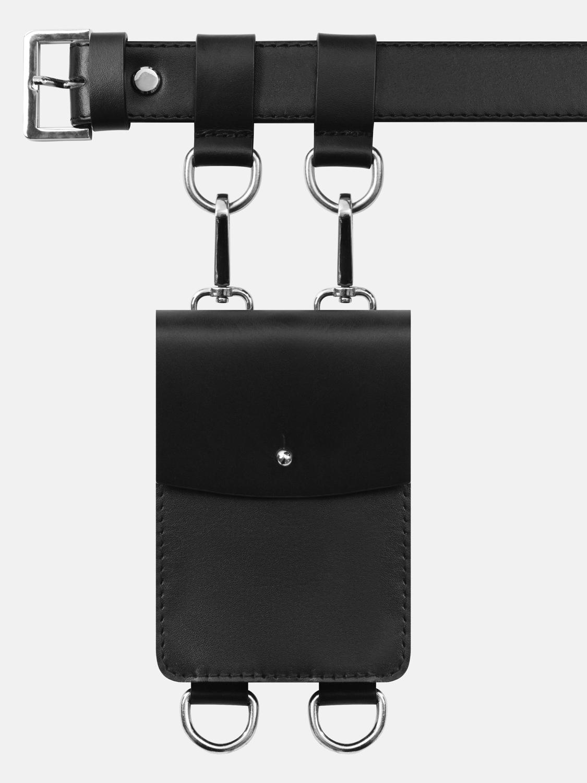 Сумочка на кнопке (черная)