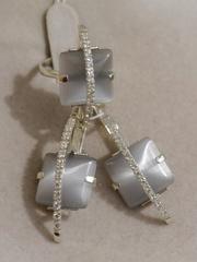 Кассио(кольцо + серьги из серебра)