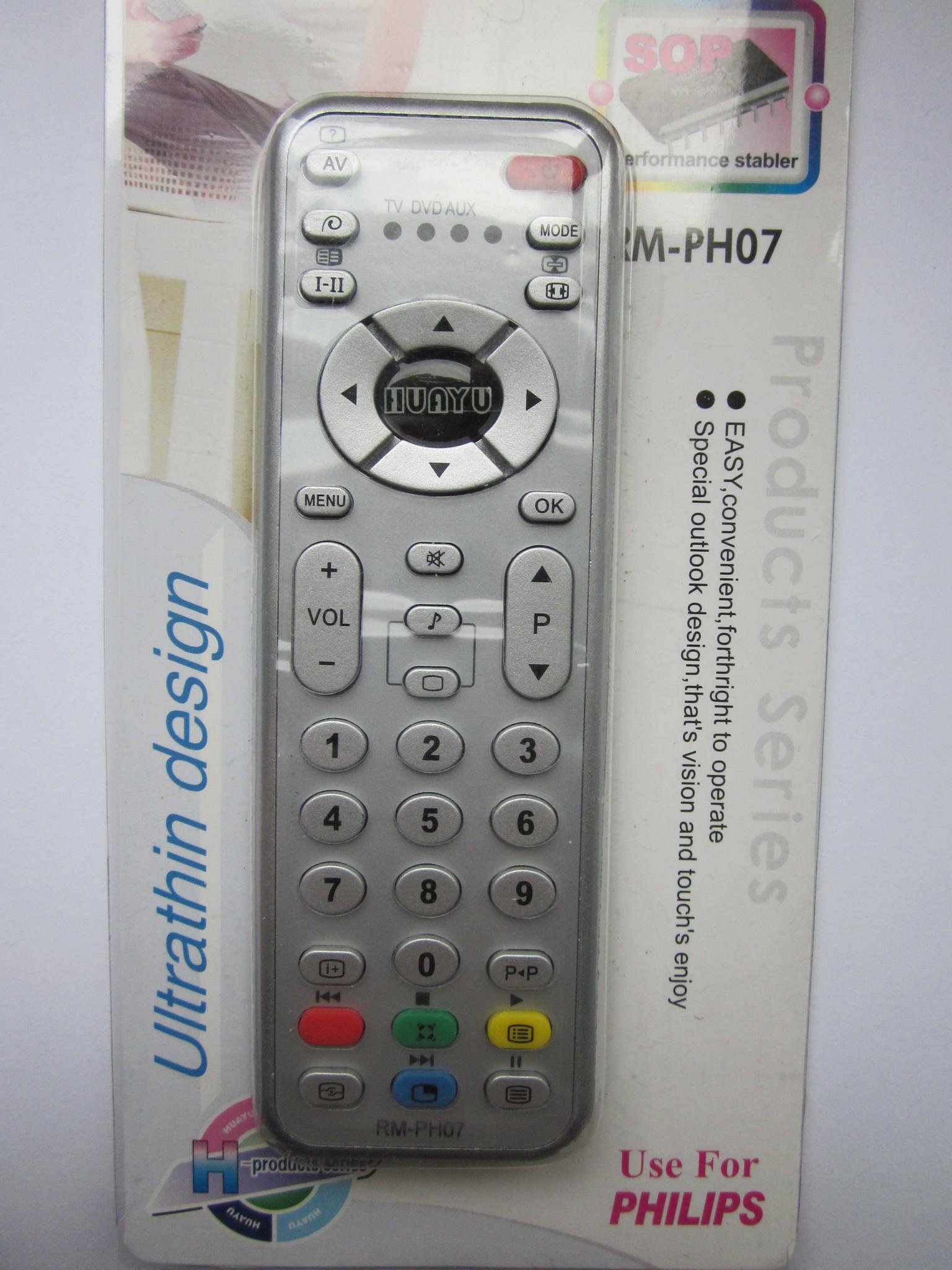 Универсальный пульт для TV  PHILIPS.