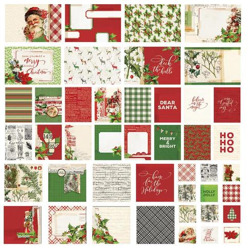 Набор карточек - Simple Vintage Christmas- Sn@p! Card Pack - 48 шт.
