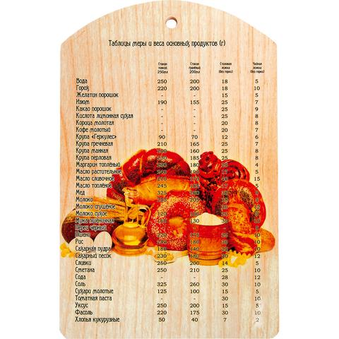 Доска разделочная «Выпечка» 29х18,5 см