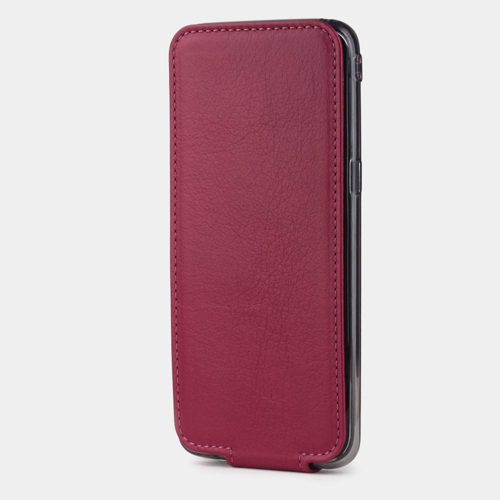 Чехол для Samsung Galaxy S8 Plus из натуральной кожи теленка, цвета малины
