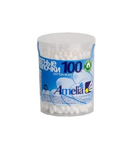 Ватные палочки Amelia в банке, 100 шт