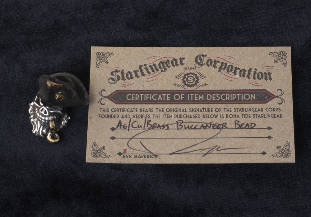 Starlingear Brass Buccaneer bead