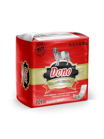 Dono одноразовые впитывающие пояса для кобелей (размер S) 12 штук