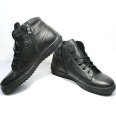 Мужские зимние ботинки на шнуровке Ikoc 1608-1 Sport Black.