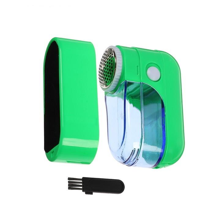 Машинка для удаления катышков, 2*АА (не в компл), зелёная фото