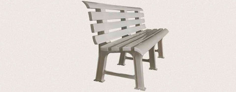 Пластиковая скамья полимерная белая