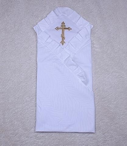 Крыжма для крещения ребенка с крестиком