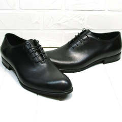 Красивые туфли мужские кожаные классические Ikoc 063-1 ClassicBlack.