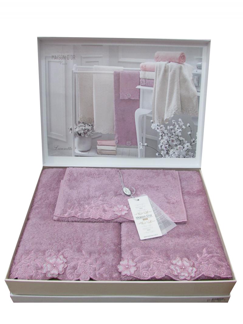 Наборы полотенец Набор полотенец LAURETTE - ЛАУРЕТТЕ 3пр 30х50 50х100 и 90х150 Maison Dor (Турция) лауретта.png
