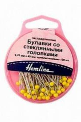 Булавки со стеклянными головками Hemline (арт. 703.100/G002)
