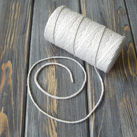 Шнур хлопковый натуральный (100м)