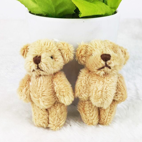 Іграшка для ляльки 6 см - ведмедик бежевий