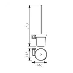 Держатель для туалетной щетки (ершик) настенный KAISER Canon KH-2306 схема