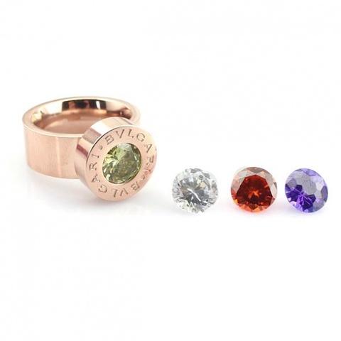Кольцо Rose Gold (сменные камни)