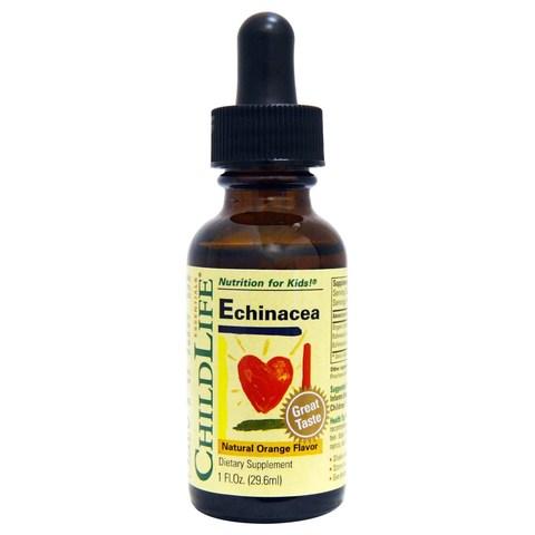 ChildLife, Essentials, эхинацея, с натуральным вкусом апельсина, 1 жидкая унция (29,6 мл)