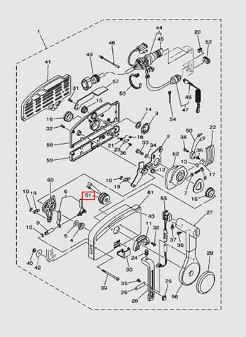 Зуммер для лодочного мотора T40 Sea-PRO (28-51)
