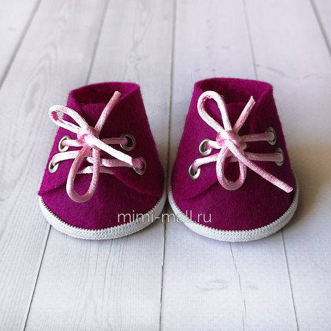 Ботиночки для игрушек пурпурные