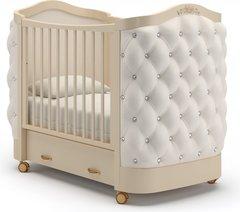 Кровать детская Тиффани декор стразы слоновая кость