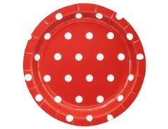 Тарелка Горошек красная