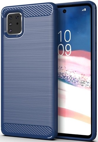 Чехол Samsung Galaxy A81 (M60S) цвет Blue (синий), серия Carbon, Caseport