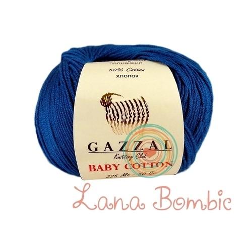 Пряжа Gazzal Baby Cotton 3421 электрик