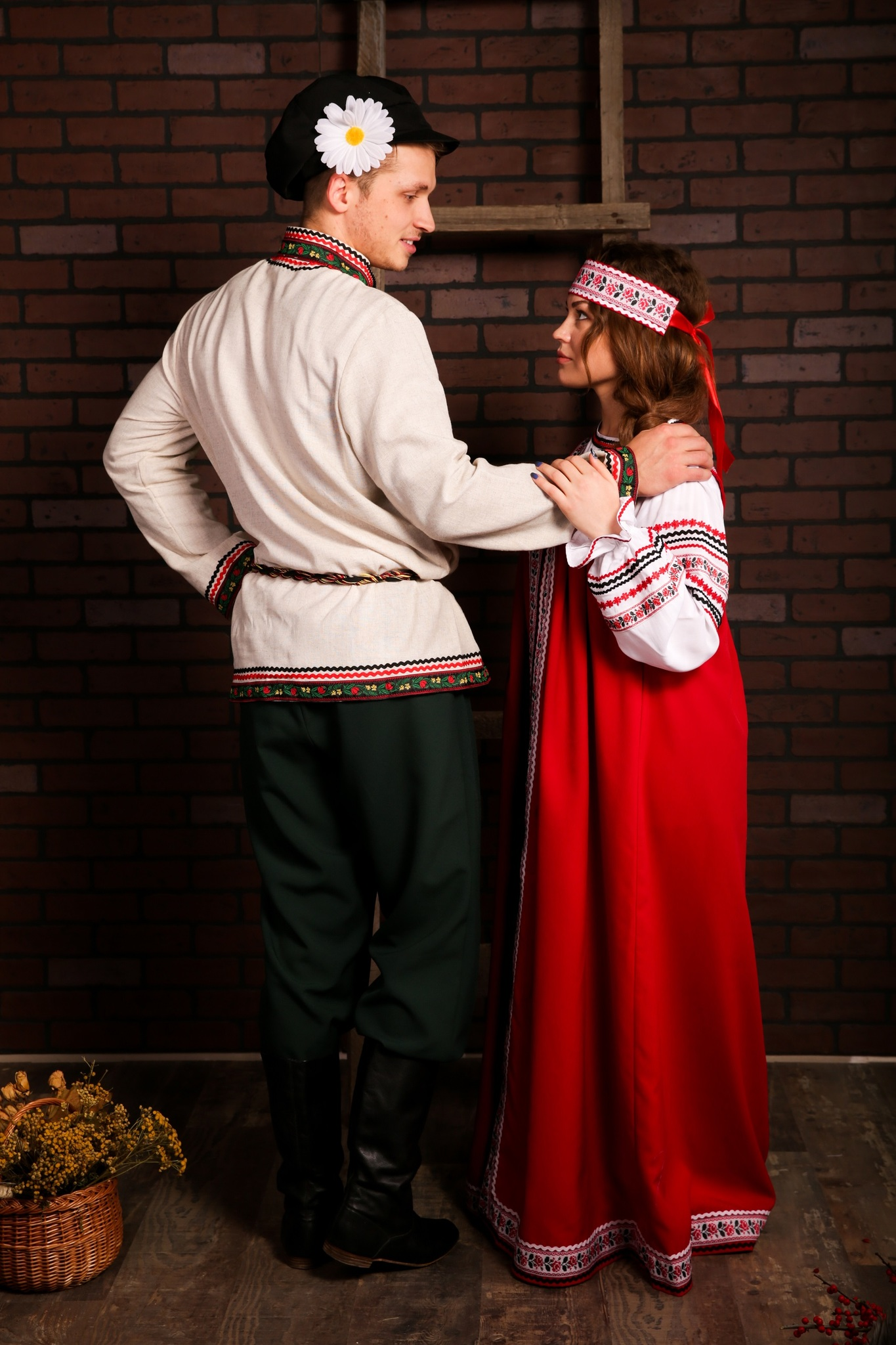 Русский мужской костюм Богатырь с костюмом Русская песня