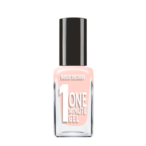 BelorDesign One Minute Gel Лак для ногтей тон 201 кремовый 10мл