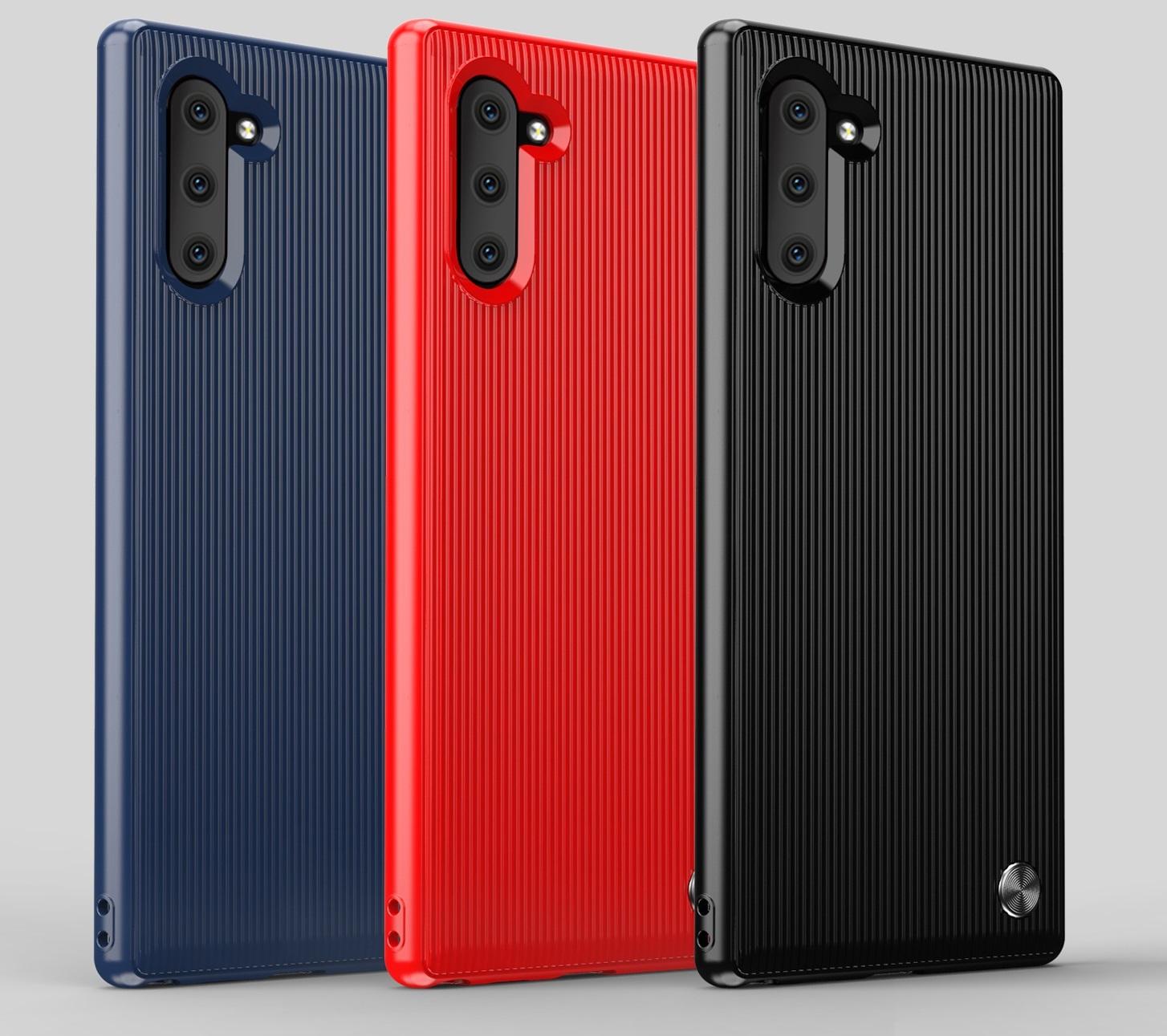 Чехол Samsung Galaxy Note 10 цвет Black (черный), серия Bevel, Caseport