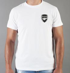 Футболка с принтом FC Arsenal (ФК Арсенал) белая 0018